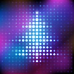 Electronic shining purple and blue christmas tree