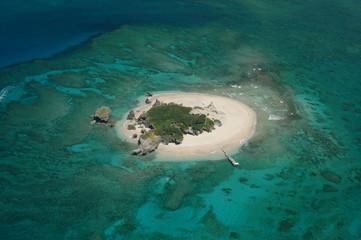 サンゴ礁の島