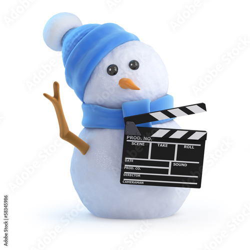 Snowman is making a home movie