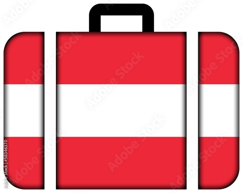 Suitcase with Austria Flag
