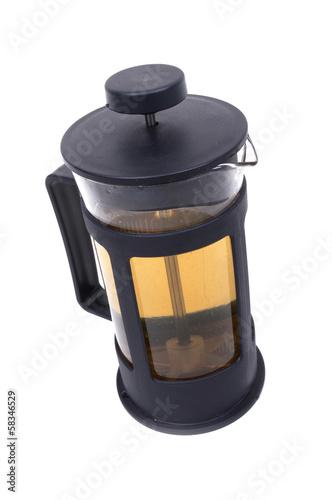 Poster French press teapot