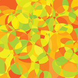 Random shape background in orange, green and yellow