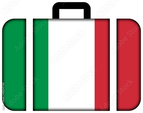 Suitcase with Italy Flag