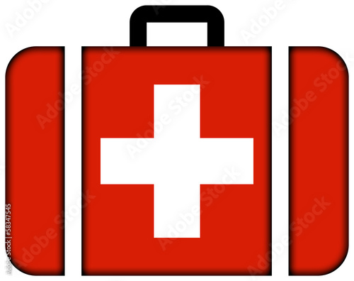 Suitcase with Switzerland Flag