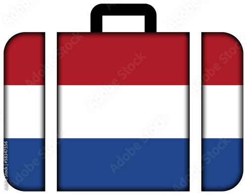 Suitcase with Netherlands Flag