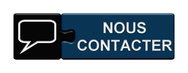 Puzzle-Button schwarz blau: Nous Contacter