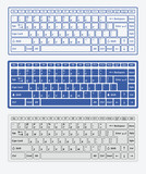 Computer keyboards for using in app