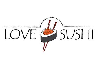 Love sushi icon