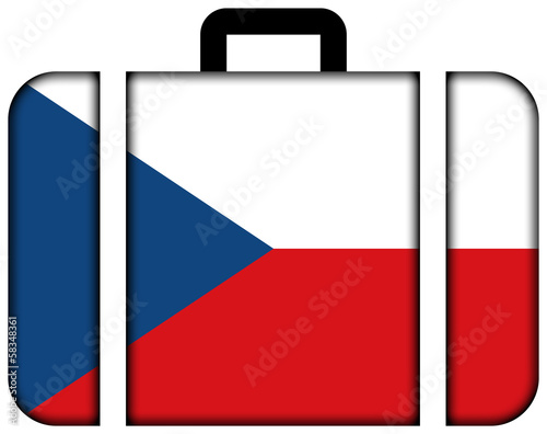 Suitcase with Czech Republic Flag