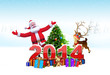 Santa claus with new year text