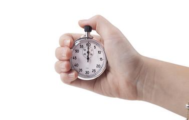 Holding Stopwatch