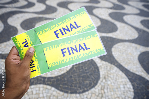 Tickets to football soccer final in Copacabana Rio Brazil