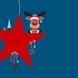 Rudolph Red Star & Symbols Blue
