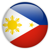 Philippines Flag Glossy Button