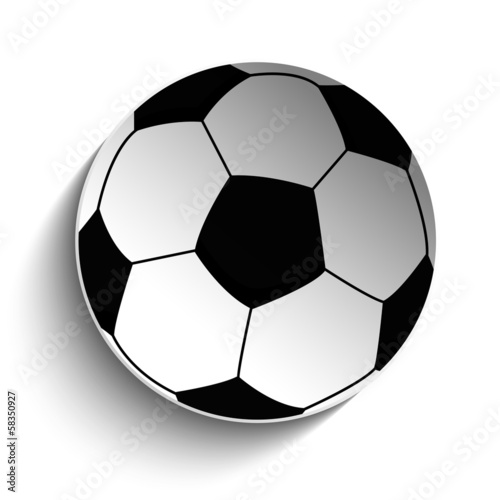 Soccer Football Ball Icon with Shadow