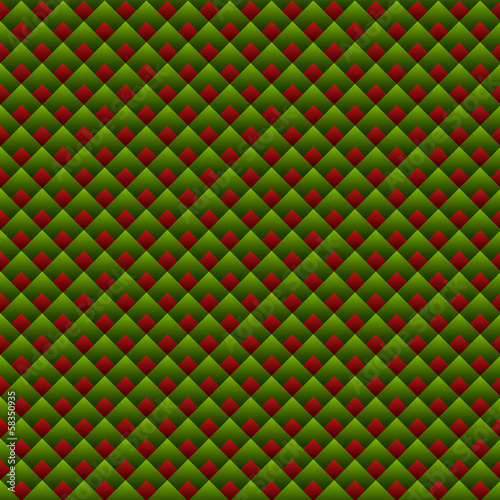 Christmas Geometric Red and Green Seamless Pattern