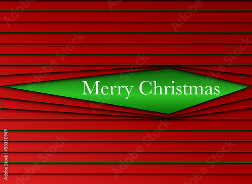 Merry Christmas Stripes Red and Green