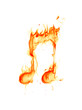 Fire note symbol