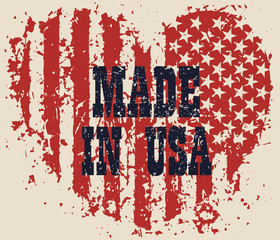 Made in usa heart