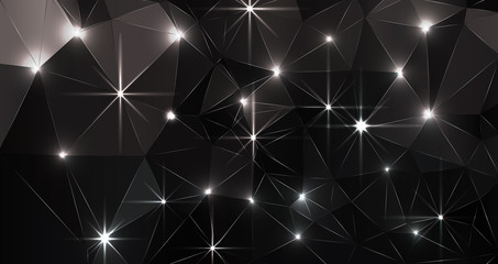 Black Abstract Polygonal Background