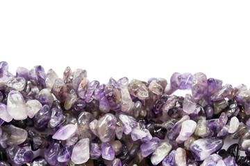 Pieces of amethyst