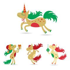 Christmas set of horses, horse christmas