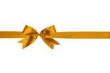 gold ribbon and bow isolated