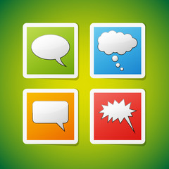 Vector speech bubbles icons