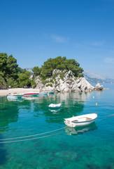 an der Makarska Riviera in Dalmatien nahe Brela