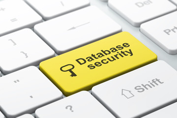 Security concept: Key and Database Security on keyboard