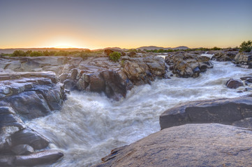 Orange River at Augrabies Gorge, Northern Cape,