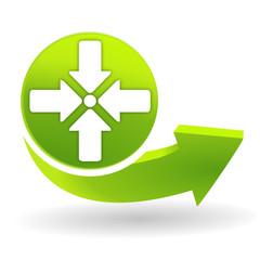 point de rassemblement sur symbole vert