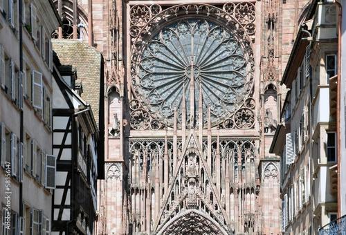 Leinwanddruck Bild Straßburger Münster