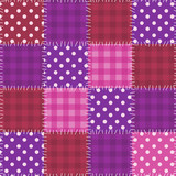 Seamless pink patchwork pattern