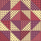 Seamless patchwork claret color pattern 1