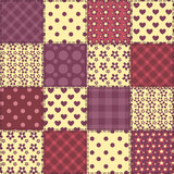 Seamless patchwork claret color pattern 2