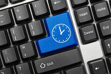 Conceptual keyboard - Time icon (blue key)