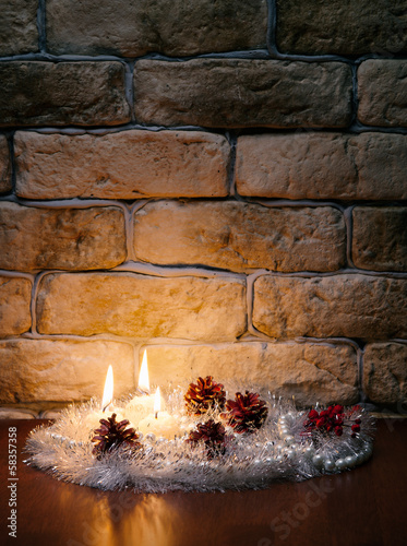 candles against a wall