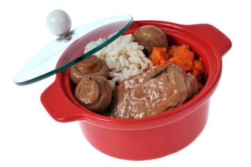 Cassolette de filet mignon de porc en sauce