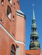 Old Riga with tower of St. Peter's Church (Latvia)