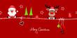 Christmas Santa & Rudolph Symbols Red