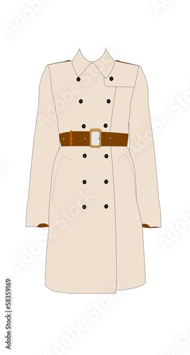 womans simple trench coat