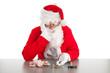 Santa counting coins
