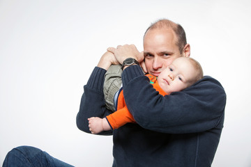 Papa mit seinem Sohn