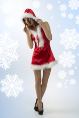 sexy young christmas girl
