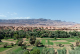 Tinghir in Morocco with green verdant valley