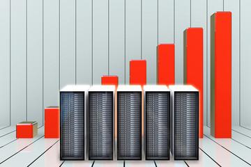 Server statistik - 3d Render
