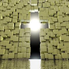 Kreuz Eingang - 3d Render