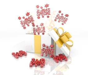 christmas present with christmas special symbol