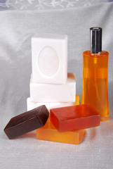 Colored soaps and oil